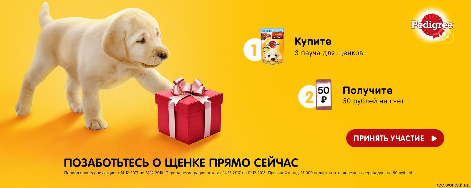 Получи подарок для щенка 98